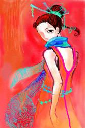 Blue scarf by Tsunami11