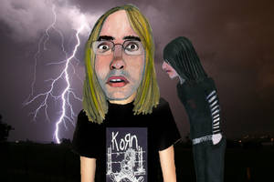 Two Emos in a Lightning Storm by kazanjianm