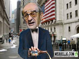 Alan Greenspan Pouring His 40 by kazanjianm