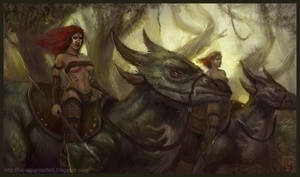 Barbarians riding by Luk999