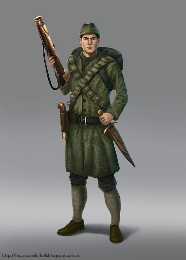 Dieselpunk Soldier Soldier by Luk999