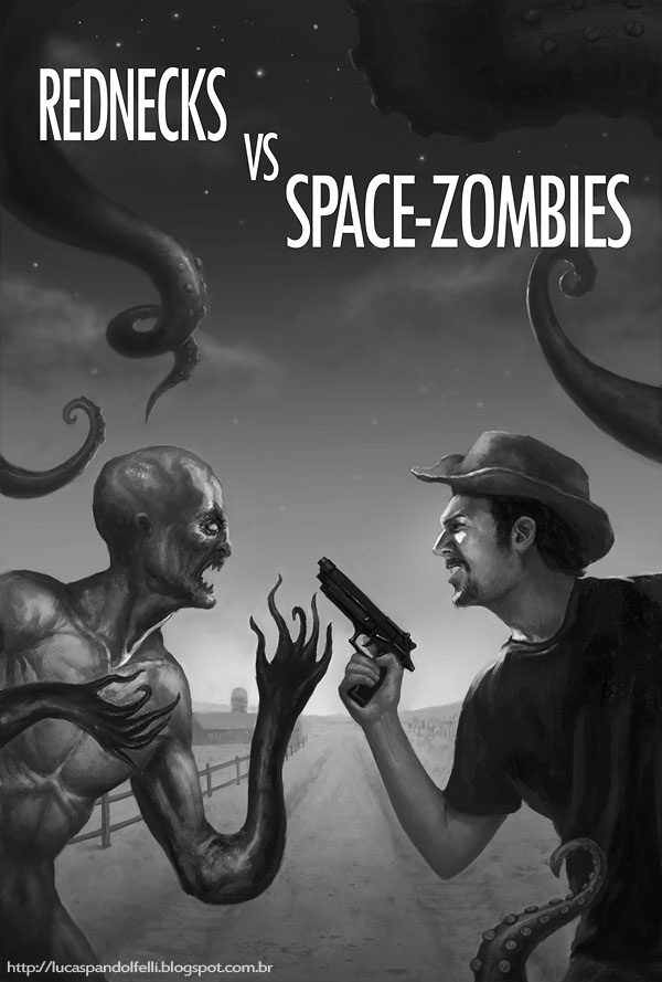 Redneck VS Space-Zombies by Luk999