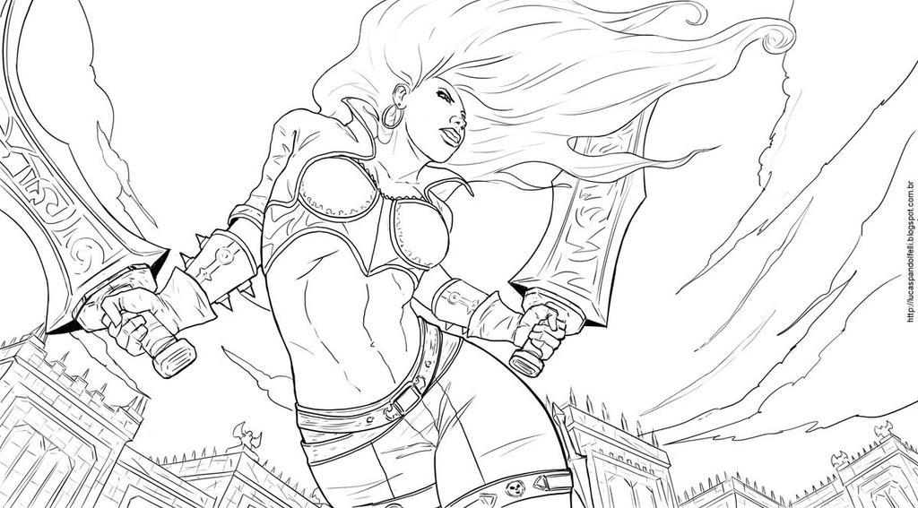League of Legends Fan Art-Katarina Sketch by Luk999