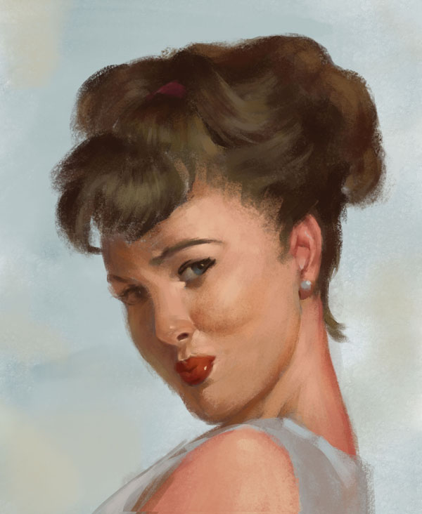 Study portrait by Luk999
