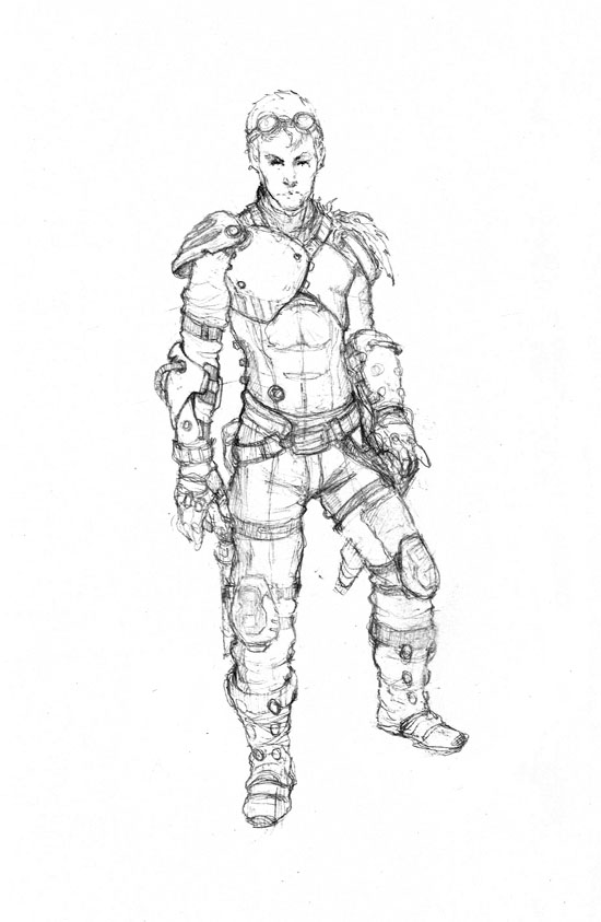 Sketching postapocalyptic character by Luk999