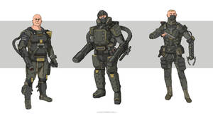 Military Sci fi characters