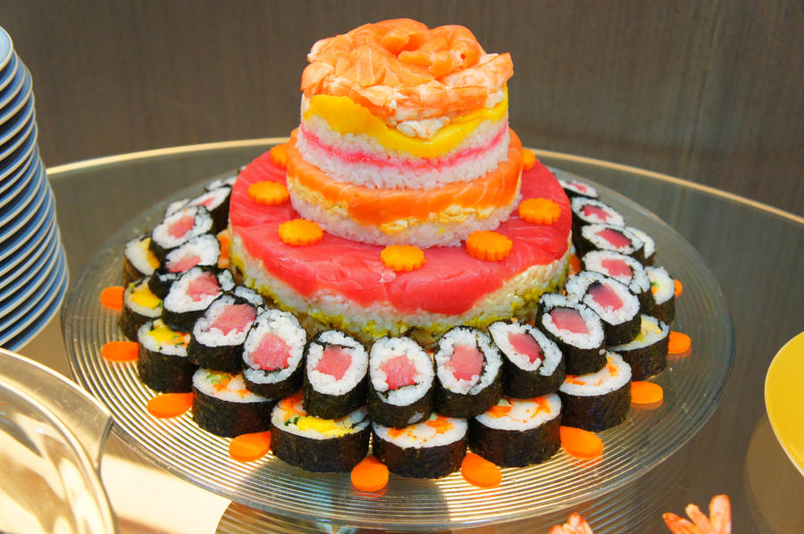 Happy Birthday Sushi Cake Sushi cake 2 by jumarco11