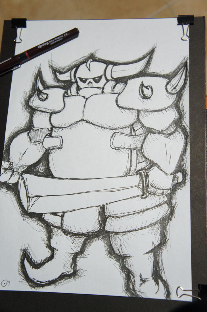 Clash of Clans Drawings Clash of Clans Pekka Drawing