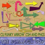 Funky Arrows Custom Shapes