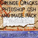 Grunge Cracks Custom Shapes