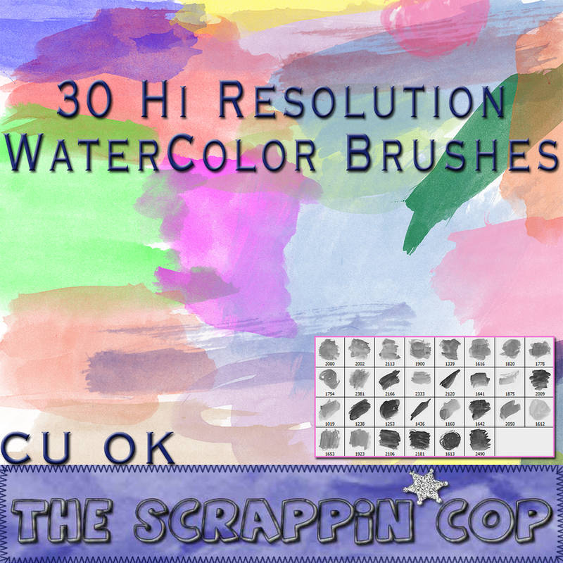 Hi Res Watercolor Brushes by debh945
