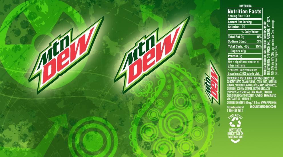 My Mountain Dew Can Design by debh945 on DeviantArt