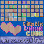 Glittered Edge Cardboard