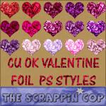 Valentine Foil Layer Styles