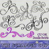 Doodle Swirl Flourish Shapes by debh945