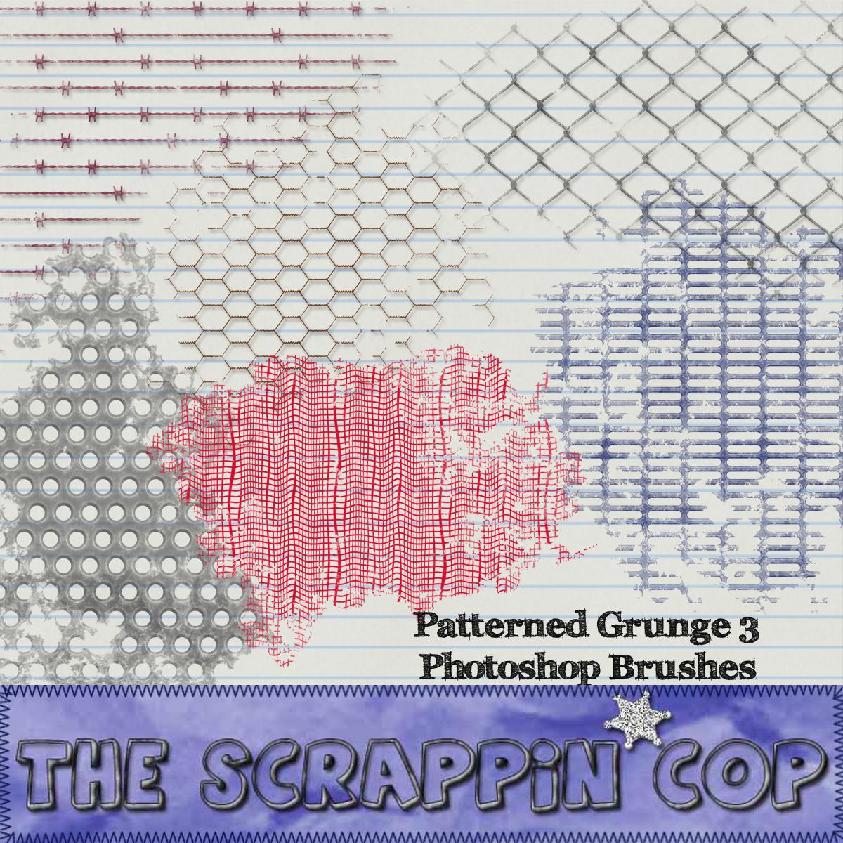 Patterned Grunge Set 3 by debh945
