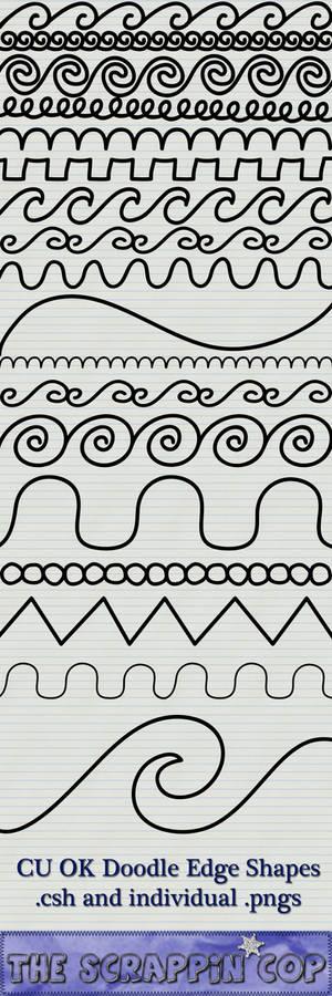 Doodled Edge Custom Shapes