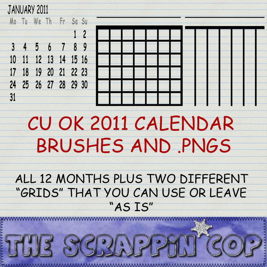 2011 Calendar Brushes by debh945