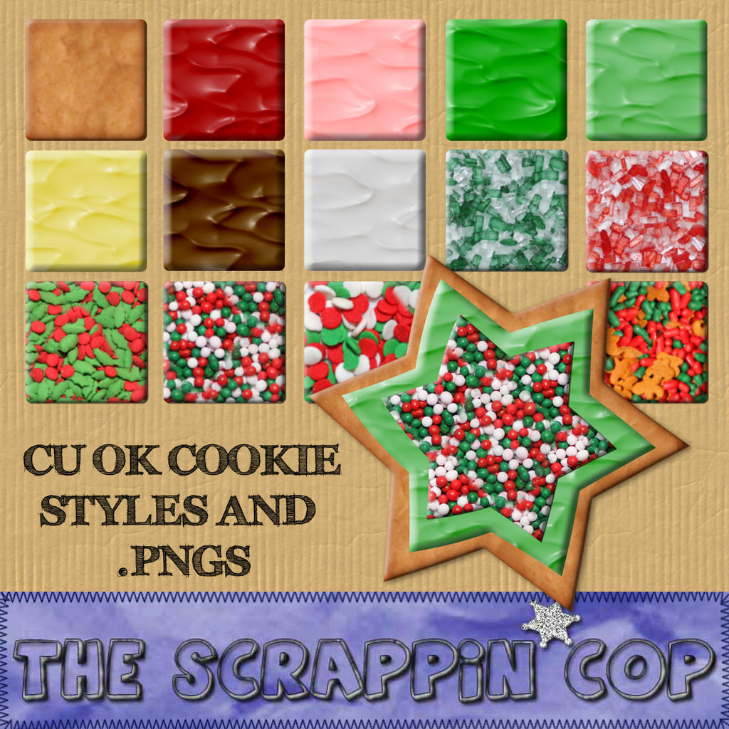 Sugar Cookie Styles and pngs by debh945