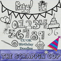 Birthday Doodle Shapes by debh945