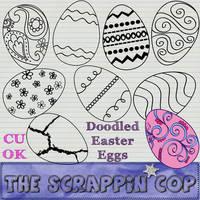 Doodled Easter Eggs