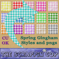 Spring Gingham Layer Styles