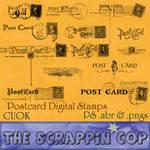 Vintage Postcard Backs Photoshop Brush Set