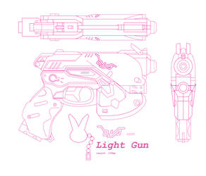 DVa Light Gun Pistol Blueprint by Dani426