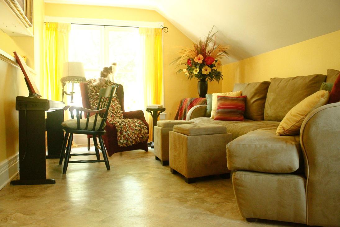 Golden Living Room : Golden Living Room by ZahrahLeona on DeviantArt