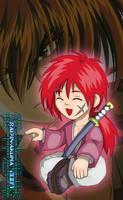 Chibi Kenshin Himura Colored by TheALVINtaker