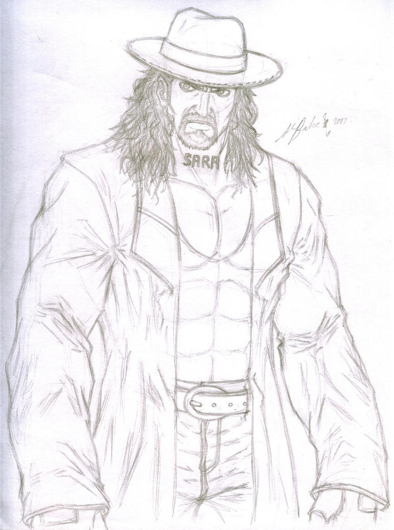 Rough sketch the undertaker by thealvintaker on deviantart for Coloring pages of the undertaker