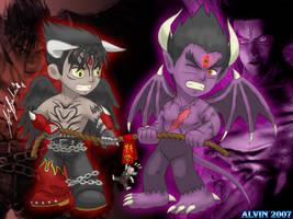 Tekken: Chibi Devils by TheALVINtaker