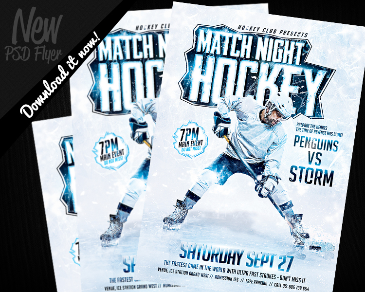 Hockey Game Night Flyer Template PSD by REMAKNED on DeviantArt