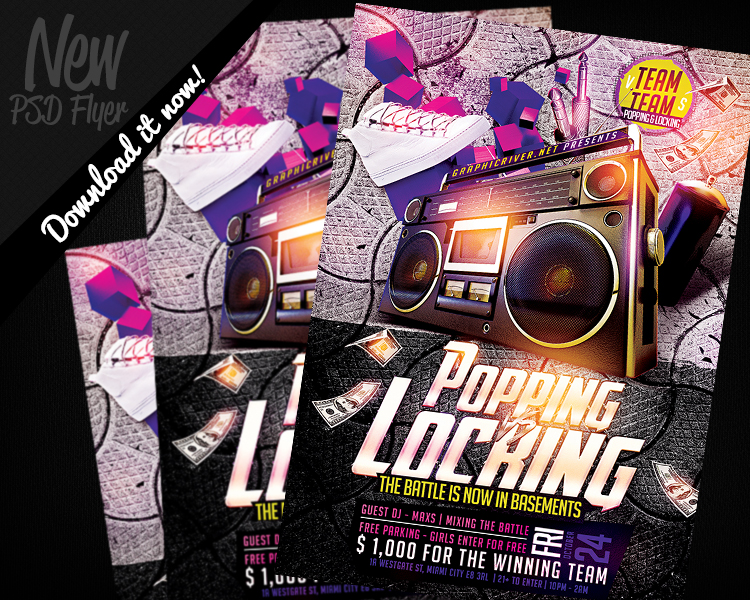 Hip Hop Dance Battle Flyer Template PSD By REMAKNED ...