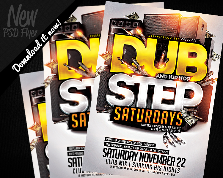 Dubstep And Hiphop Flyer Template Psd By Remakned On Deviantart