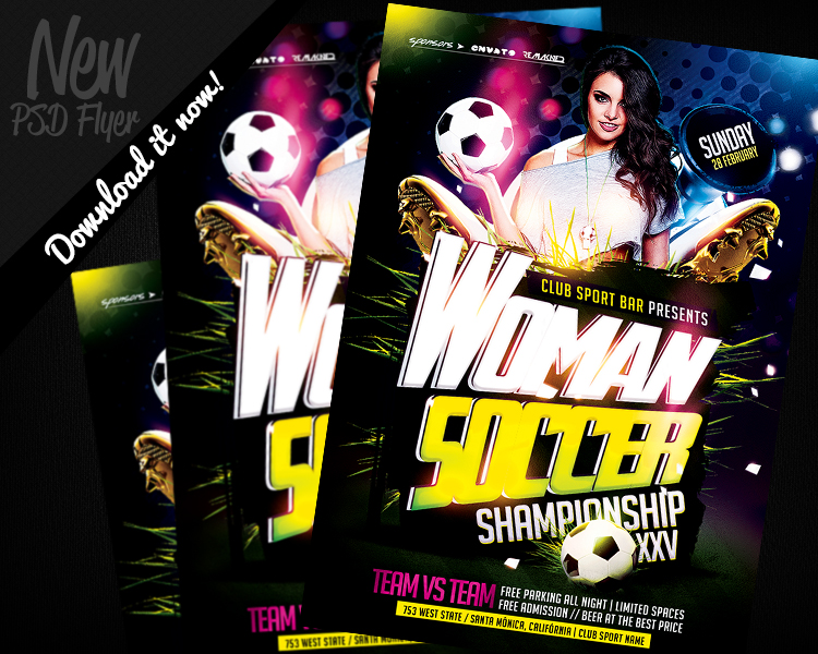 Women Soccer  Flyer Template Psd By Remakned On Deviantart