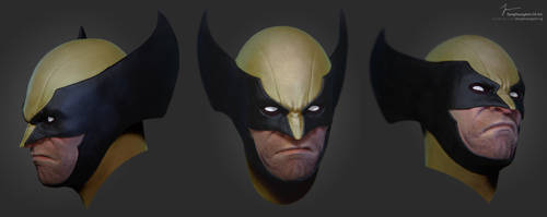 Wolverine Bust 3D Model by ArchangelX2