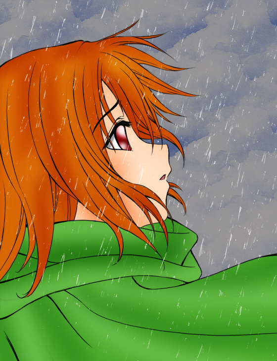 Sadness in the rain by Sachi-Mitsudy