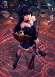 Gothic pepper witch by Luches