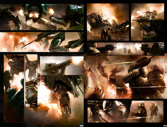 Shrapnel Pages Set I by Luches