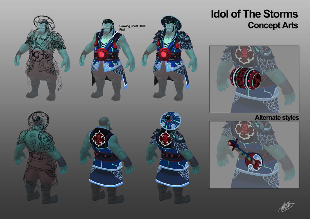 Idol of the Storm concepts Finals by Luches
