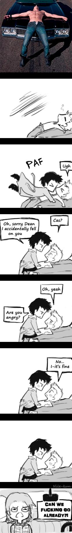 It's fine Cas, It's fine by Nile-kun