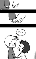 Day 1: Holding hands (Destiel version) by Nile-kun