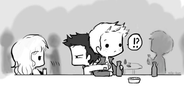 Day 2 Cuddling somewhere (Destiel version) by Nile-kun