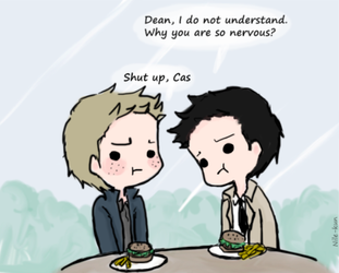 Day 4: On a date (Destiel version) by Nile-kun