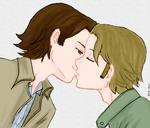 Day 5: Kissing (Sabriel version) by Nile-kun
