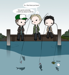 Day 9: Hanging out with friends (Destiel) by Nile-kun