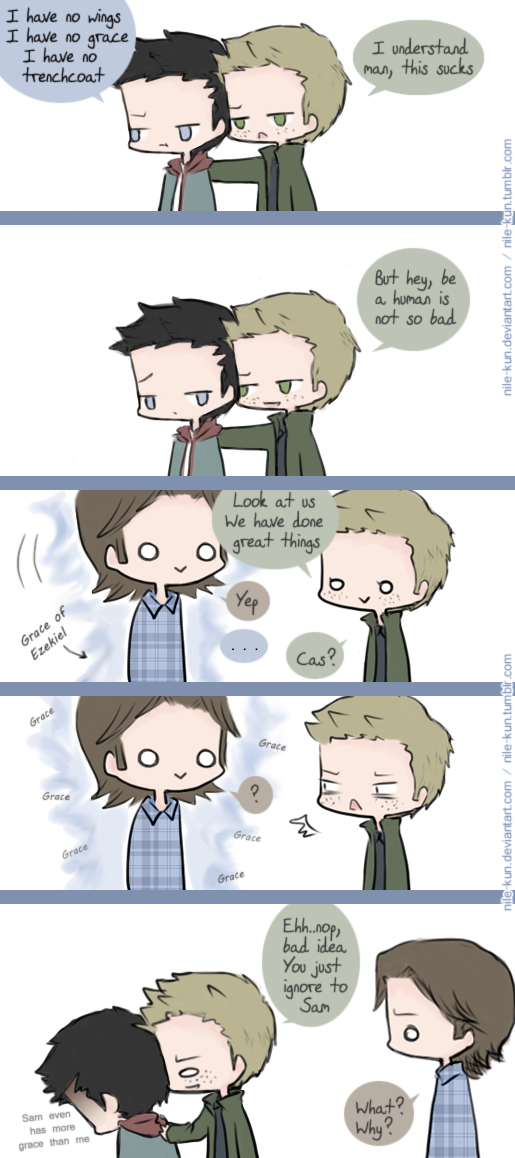 No Cas, you don't see him (SPN 9) by Nile-kun