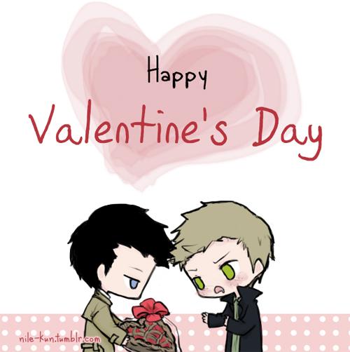Valentine destiel by Nile-kun