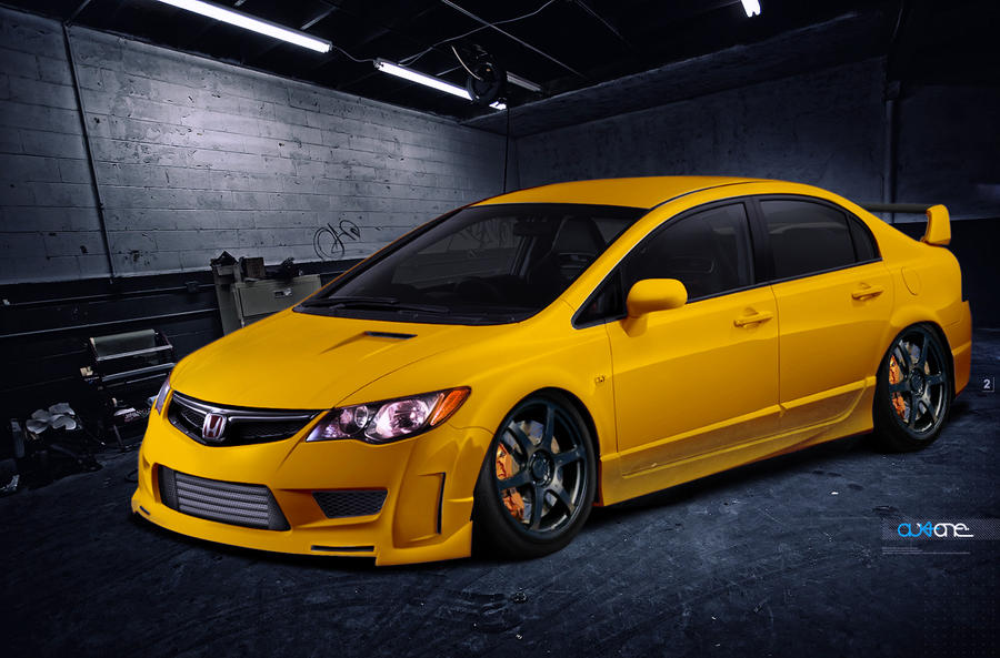 honda civic jdm body kit by mutedesign on deviantart. Black Bedroom Furniture Sets. Home Design Ideas